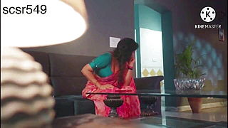 Desi Sexy And Juicy Woman In A Red Saree Getting Fucked By Servant