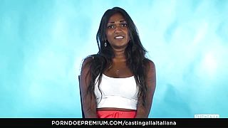 Audition ALLA ITALIANA - Indian Stunner Nasty Interview