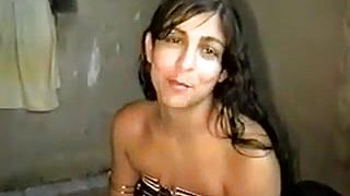 Naughty amateur Indian girlfriend gives a blowjob and gets fucked