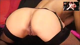 Sexy amateur Indian beauty in stockings masturbates