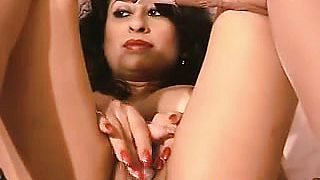 Indian Mom Wearing Pantyhose Masturbates