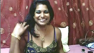 An Indian breasty cam model