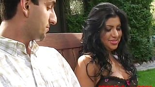 Naughty young indian beauty deep sloppy sucking huge throbbing cock till he explodes
